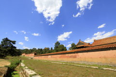 The tall wall in the Eastern Royal Tombs of the Qing Dynasty, ch Stock Photography