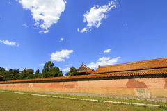 The tall wall in the Eastern Royal Tombs of the Qing Dynasty, ch. ZUNHUA - MAY 11: The tall wall in the Eastern Royal Tombs of the Qing Dynasty on May 11, 2013 royalty free stock image