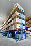 Tall warehouse shelf Stock Image