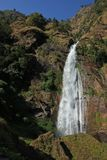 Tall waterfall in Syange, Nepal Royalty Free Stock Images