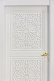 Tall white door Royalty Free Stock Photos
