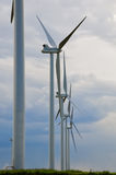 Tall Wind Generators in Colorado Stock Images