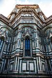 Tall window on  the Florence Duomo Cathedral. Tall Gothic window on the Florence Duomo Cathedral in Italy Stock Photos