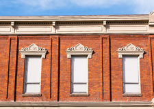 Tall Windows on an Old Building Royalty Free Stock Photo