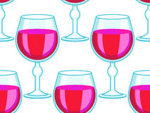 Tall wineglass pattern Royalty Free Stock Image