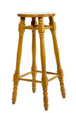 Tall wooden chair Stock Image