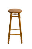 Tall wooden chair. On white background royalty free stock photography