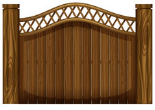 A tall wooden gate Royalty Free Stock Photo