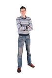 Tall young man Stock Images