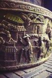 Talla china de la piedra Imagenes de archivo