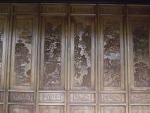 Talla china de madera Imagenes de archivo