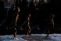 Talla de bronce Foto de archivo libre de regalías