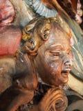 Talla de la cara de la querube del vintage Foto de archivo