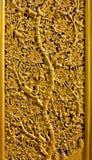 Talla de la flor y del árbol Fotos de archivo libres de regalías