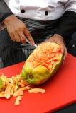 Talla de la fruta Fotos de archivo