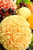 Talla de la fruta Imagen de archivo libre de regalías