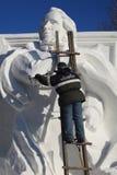 Talla de la nieve Foto de archivo libre de regalías