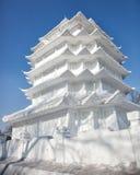 Talla de la nieve Imágenes de archivo libres de regalías