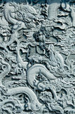 Talla de la piedra del dragón   Foto de archivo libre de regalías