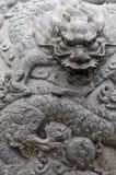 Talla de la piedra del dragón Imagen de archivo libre de regalías