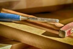 Talla de las herramientas Foto de archivo libre de regalías