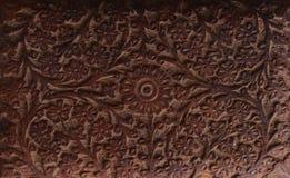 Talla de madera de la flor Foto de archivo libre de regalías