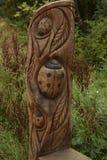Talla de madera de la mariquita fotos de archivo