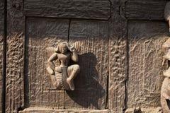 Talla de madera de Myanmar Foto de archivo libre de regalías