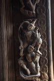 Talla de madera de Myanmar Foto de archivo