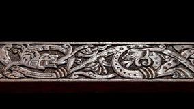 Talla de madera de Viking Fotos de archivo libres de regalías