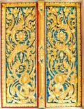 Talla de madera del estilo tailandés nativo Foto de archivo