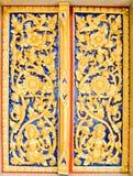 Talla de madera del estilo tailandés nativo Imagen de archivo libre de regalías