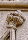 Talla de madera en el panel Foto de archivo libre de regalías