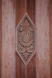 Talla de madera para la puerta Imagen de archivo