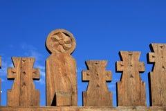 Talla de madera rumana tradicional Fotos de archivo