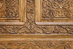 Talla de madera tradicional, Uzbekistán Foto de archivo