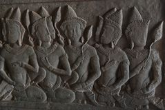 Talla de piedra de Angkor Wat Fotografía de archivo