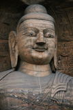 Talla de piedra de las grutas 102 de Yungang imagenes de archivo