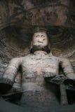 Talla de piedra de las grutas 91 de Yungang imagenes de archivo