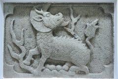 Talla de piedra del kylin antiguo chino Fotos de archivo