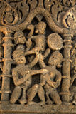 Talla de piedra en el templo de Sun, Modhera Fotos de archivo
