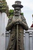 Talla de piedra en Wat Pho Imagen de archivo libre de regalías