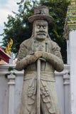 Talla de piedra en Wat Pho Fotos de archivo