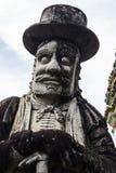 Talla de piedra en Wat Pho Foto de archivo libre de regalías