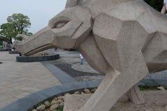 Talla de piedra de la Eagle-piedra Imagenes de archivo