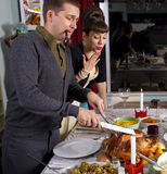 Talla de Turquía de la cena de la acción de gracias Imagenes de archivo
