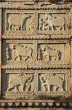 Talla decorativa en la pared 84-Pillared del cenotafio, Bundi, R Fotos de archivo