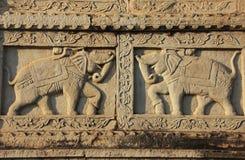 Talla decorativa en la pared 84-Pillared del cenotafio, Bundi, R Fotografía de archivo libre de regalías