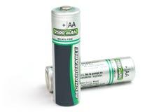 Talla del AA de las pilas de batería Imágenes de archivo libres de regalías