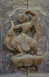 Talla del detalle en la fachada del templo de Shwenandaw KYAUNG Imágenes de archivo libres de regalías